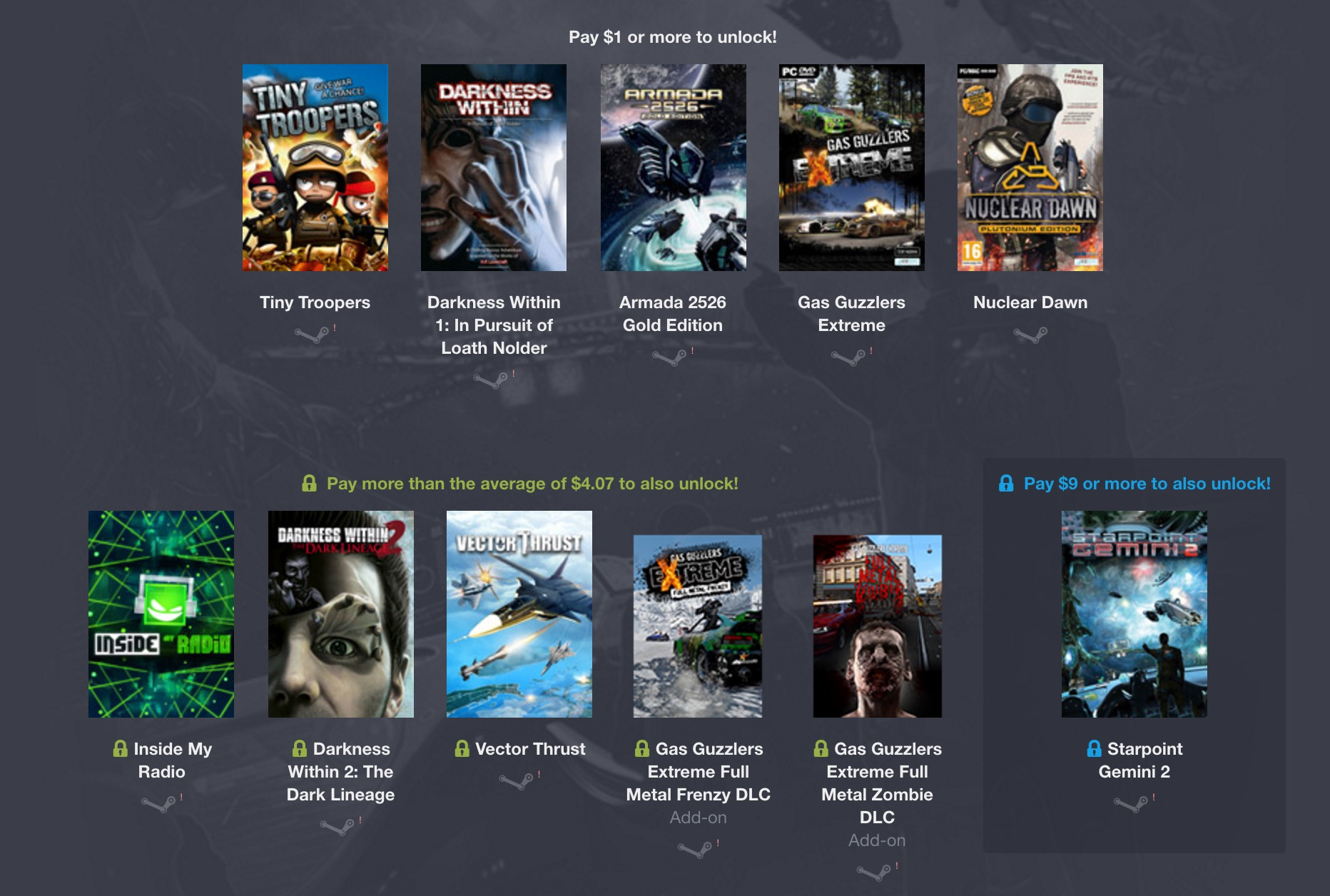 Humble Weekly Bundle - Iceberg Interactive 2 Spiele
