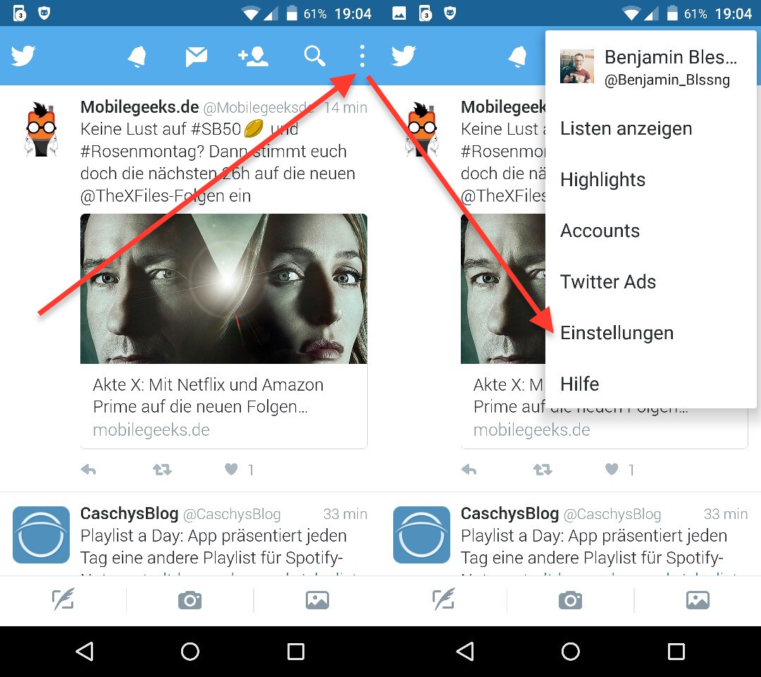 Twitter: In-App Browser deaktivieren