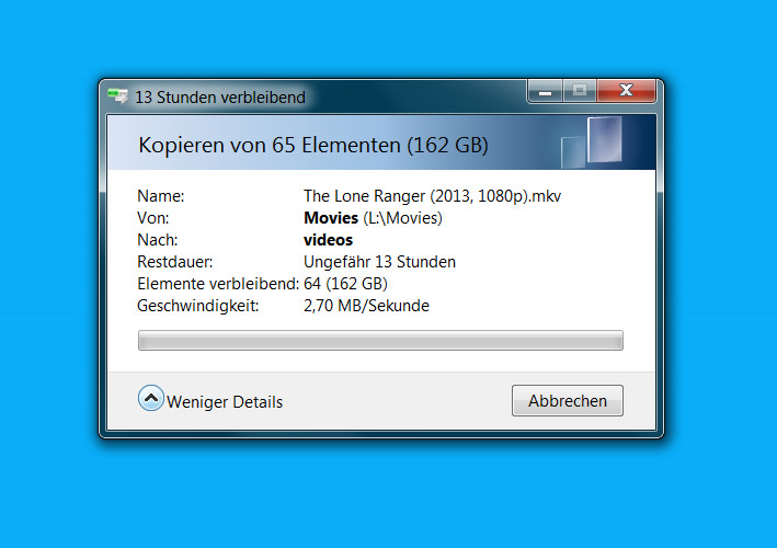 ionas-Server Home Datenübertragsungsrate