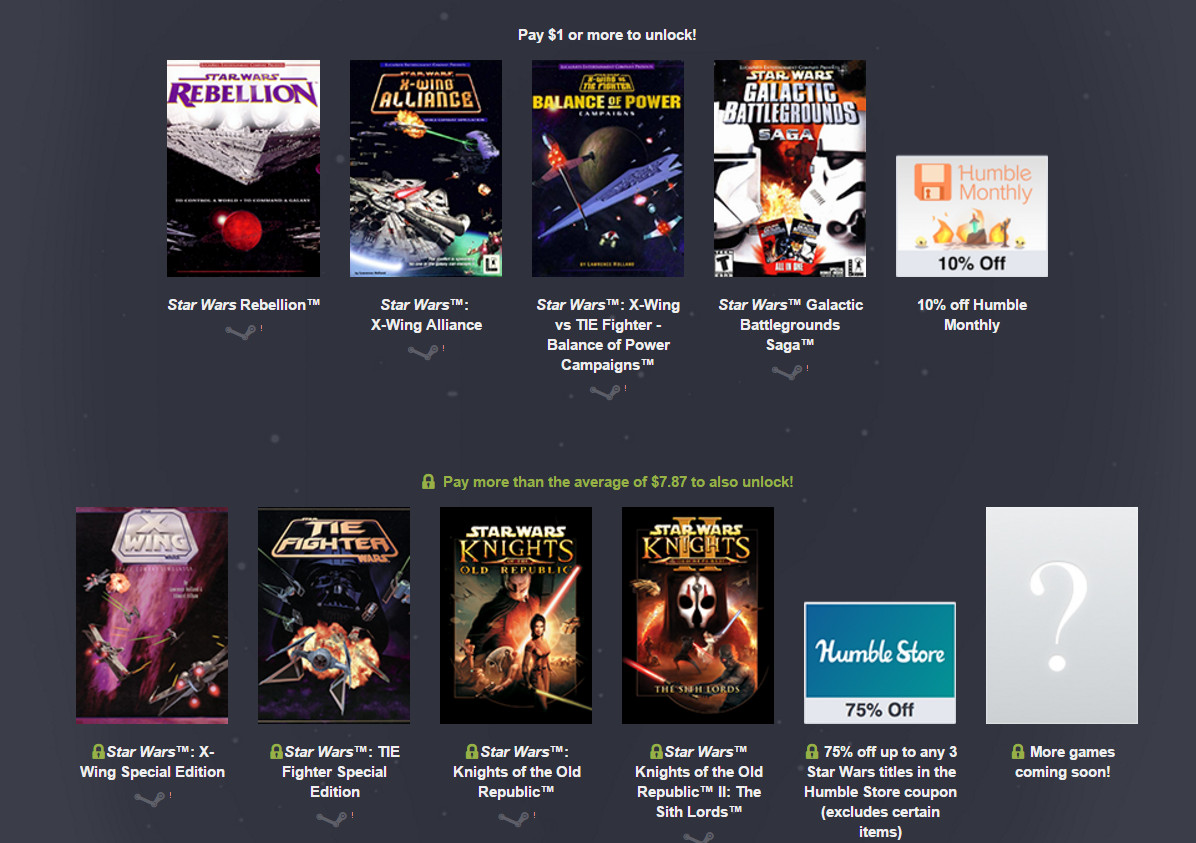 Humble Bundle - Star Wars Bundle 2 Spiele