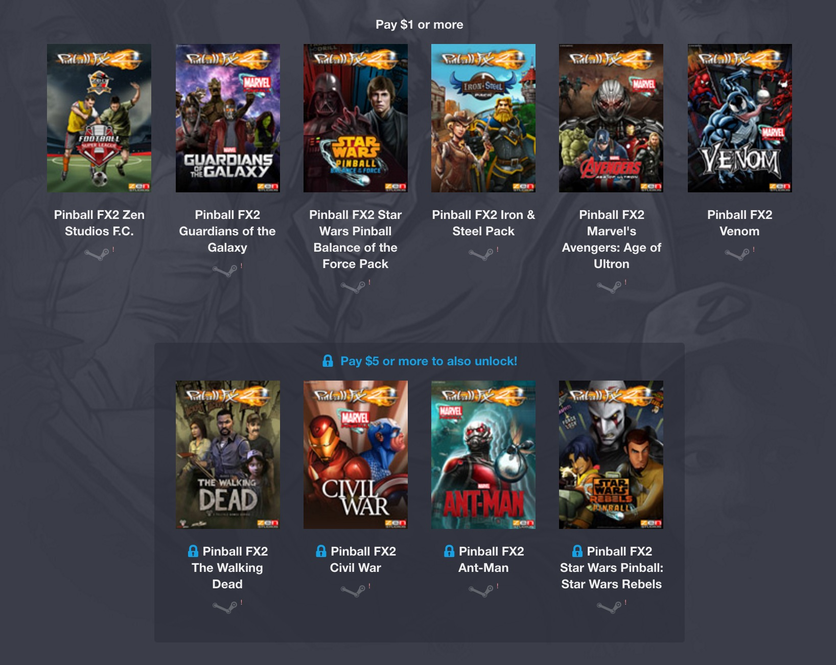 The Humble Weekly Bundle - Zen Studios 3 Spiele