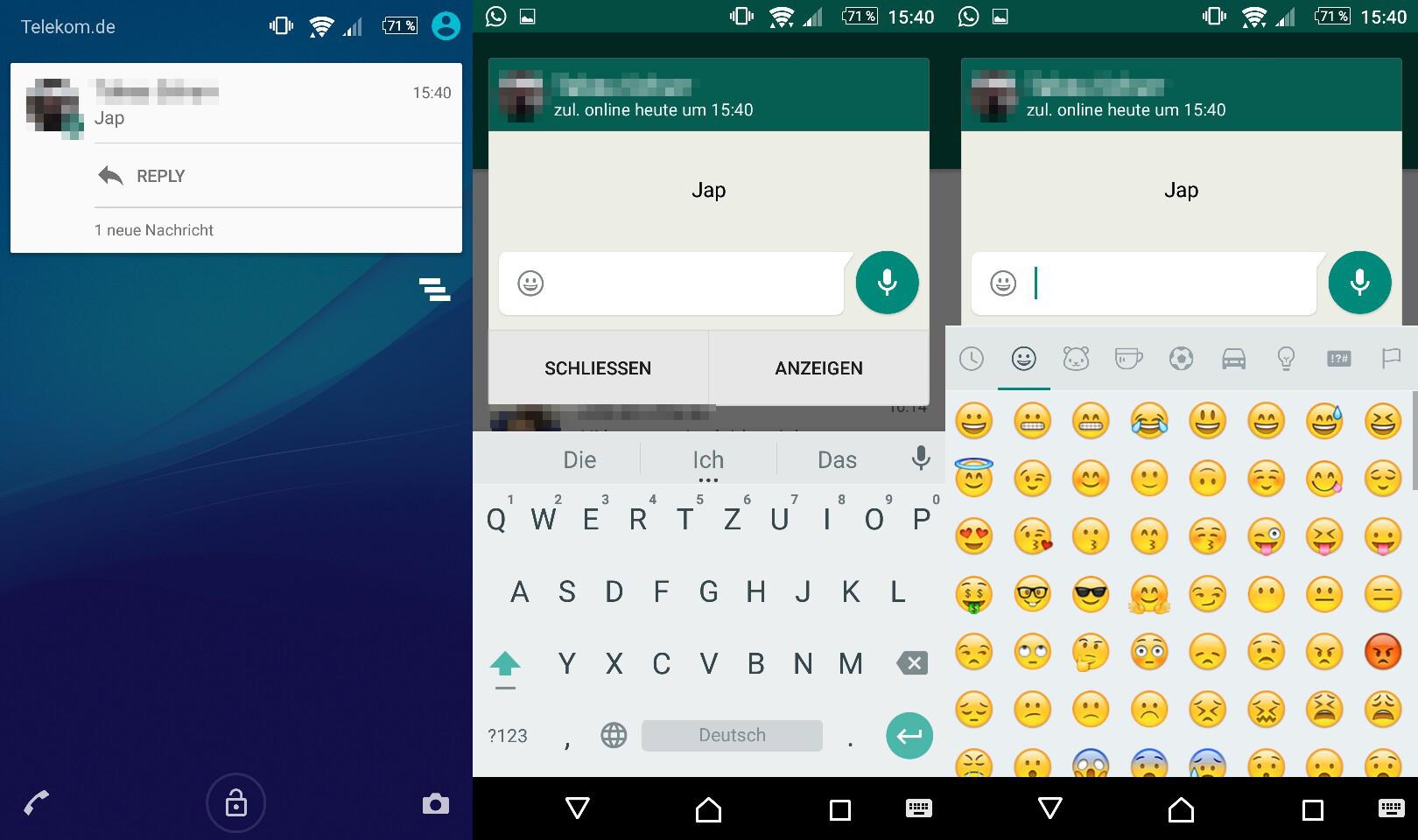 WhatsApp: Direkte Antwort im Popup möglich