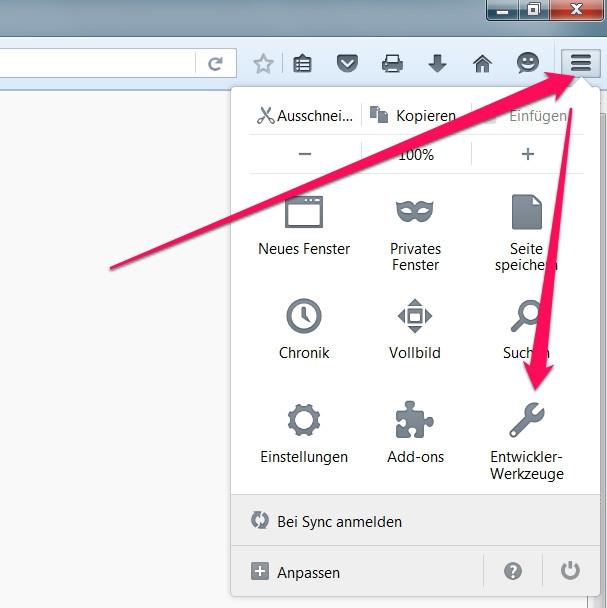 Firefox Bildschirmauflösung anpassen