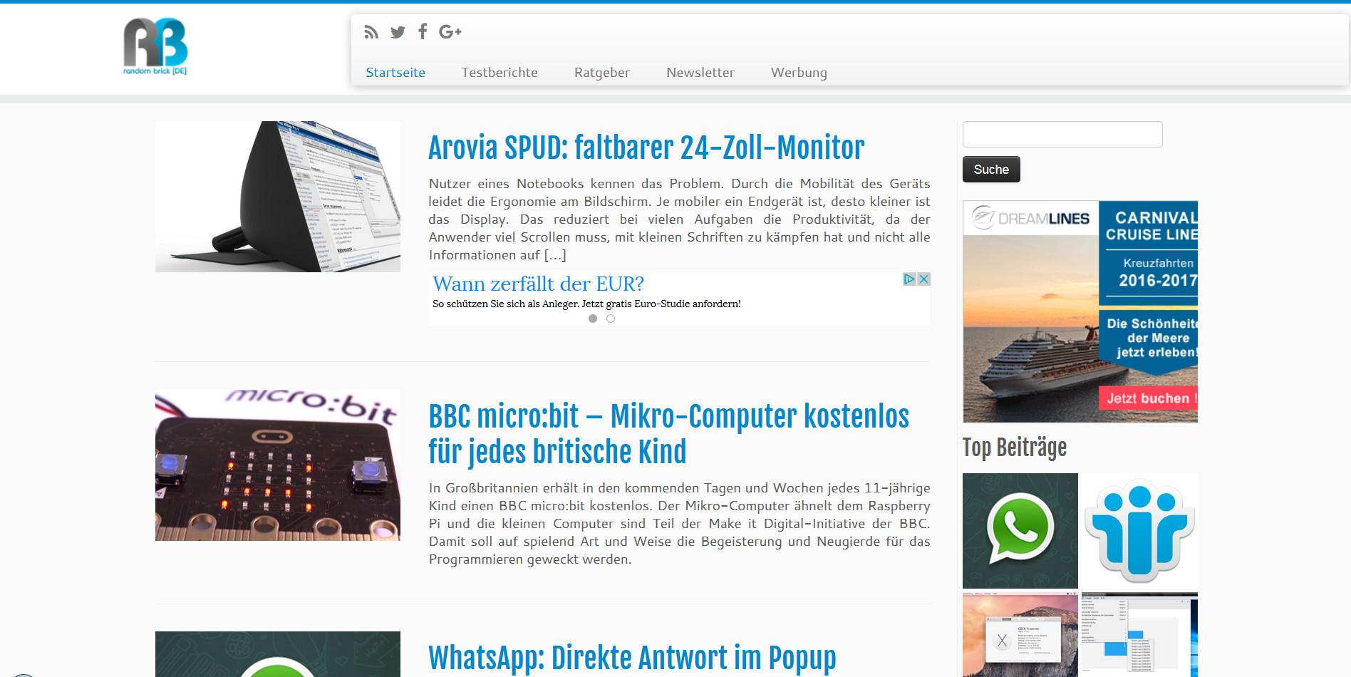RandomBrick.de Webseite