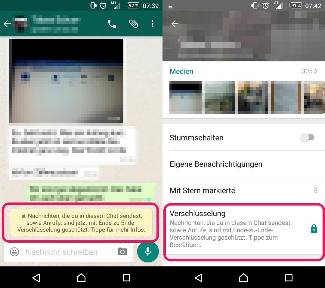WhatsApp verschlüsselt keine Meta-Daten