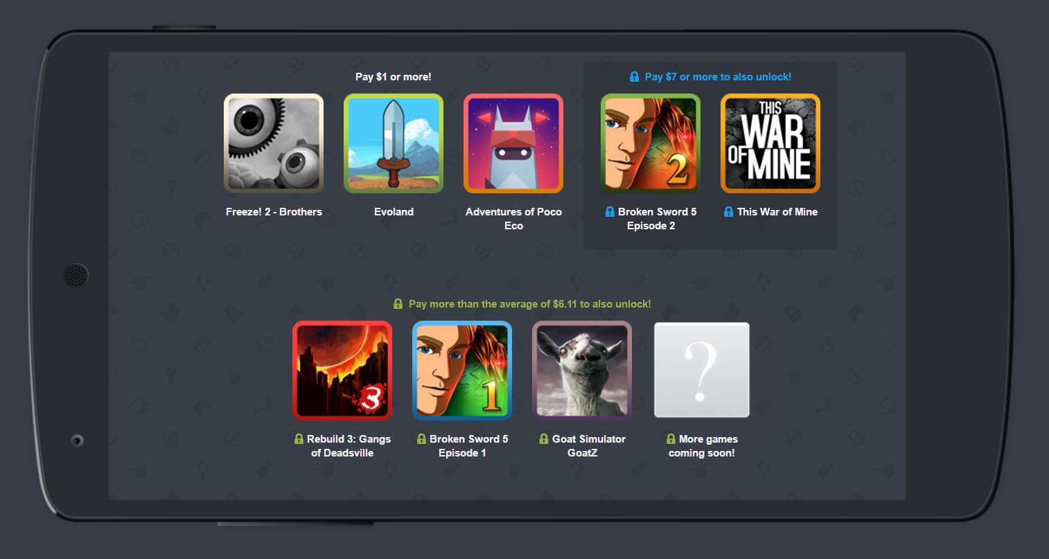 Humble Mobile Bundle 18 Spiele