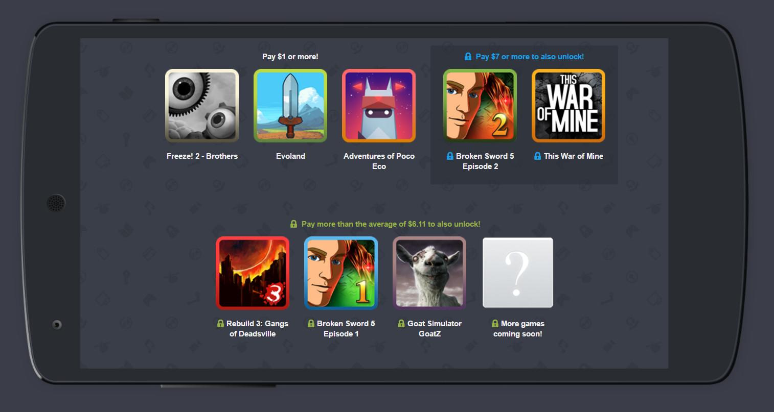 Humble Mobile Bundle 18 Spiele