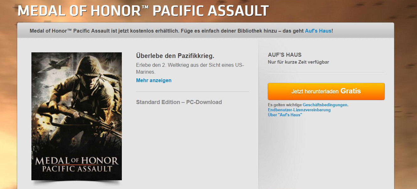 Medal of Honor Pacific Assault kostenlos