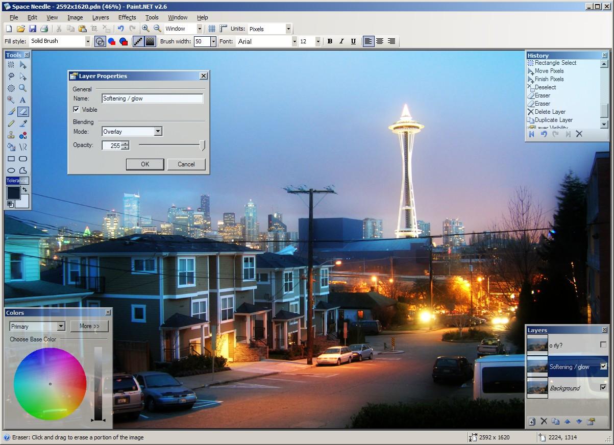 Paint.NET Bildbearbeitung
