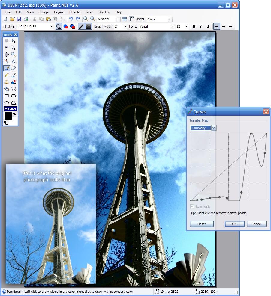 Paint.NET Fotos bearbeiten