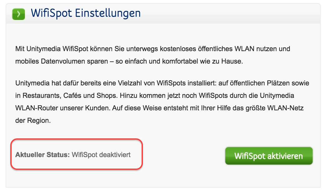 Unitymedia Wifispot Anmeldung
