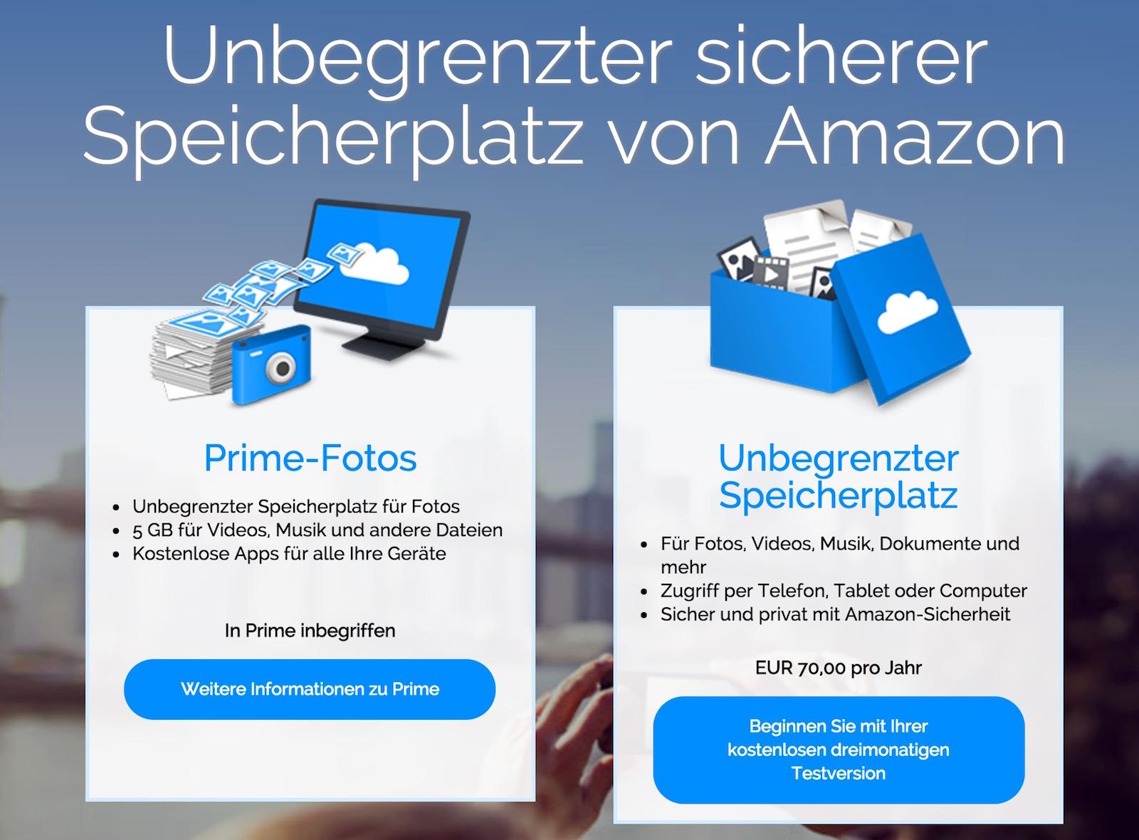 Amazon Cloud Drive mit unbegrenztem Speicher