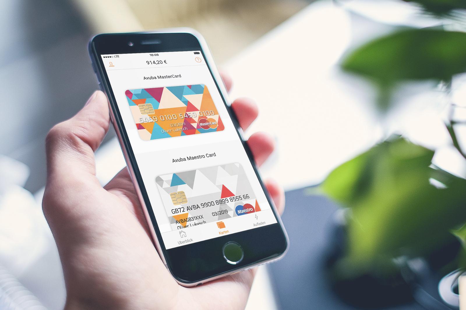 Avuba App Karten verwalten