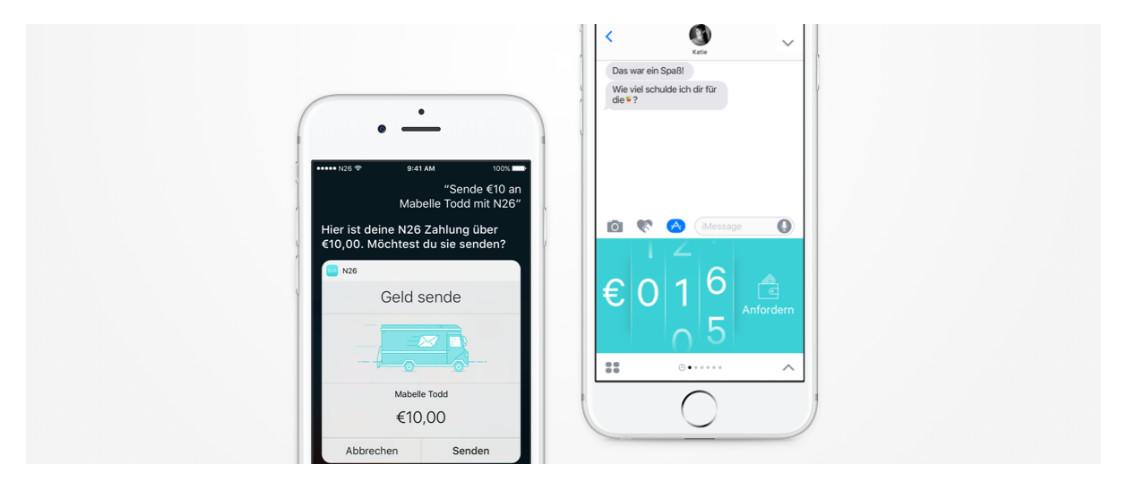 N26 mit Siri und iMessage