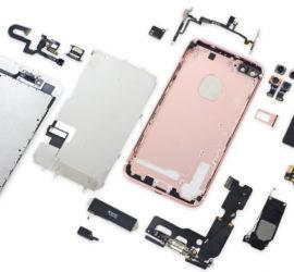 iPhone 7 Plus in Einzelteile zerlegt
