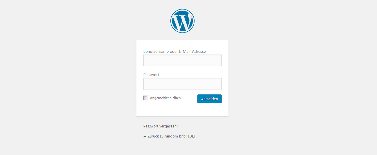 WordPress Admin-Login mit wp-login.php