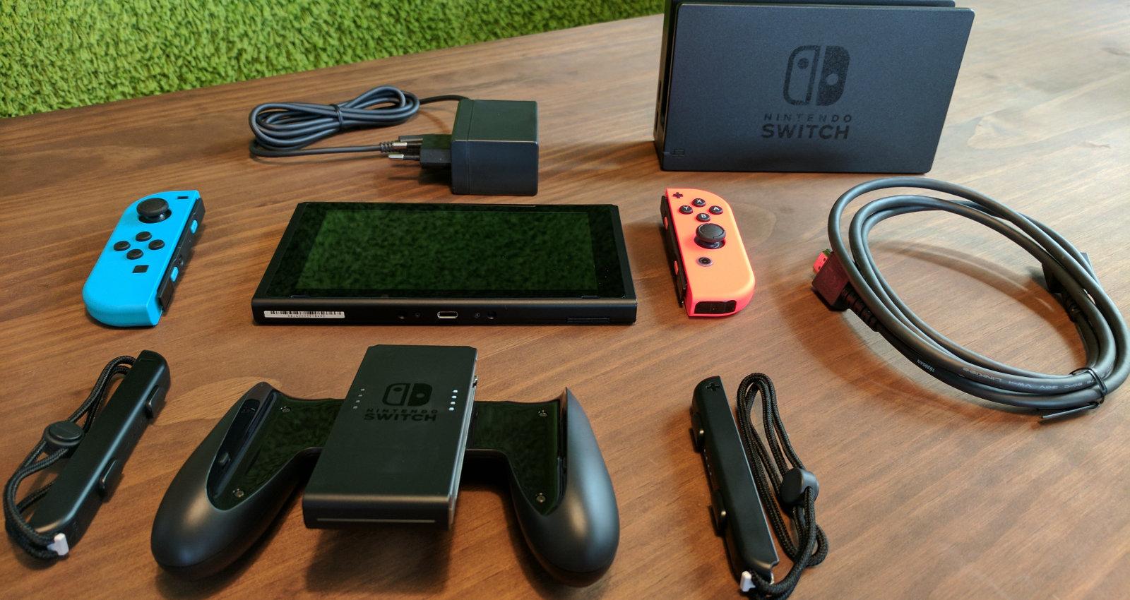 Nintendo Switch Inhalt des Kartons