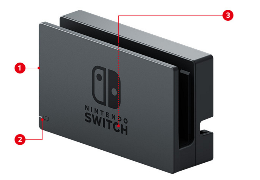 Nintendo Switch Station Vorderseite