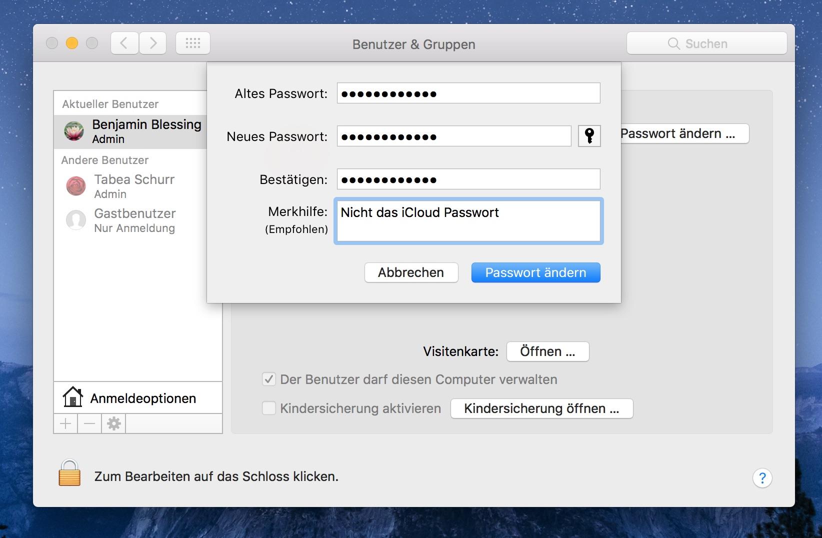 Automatisch in macOS anmelden