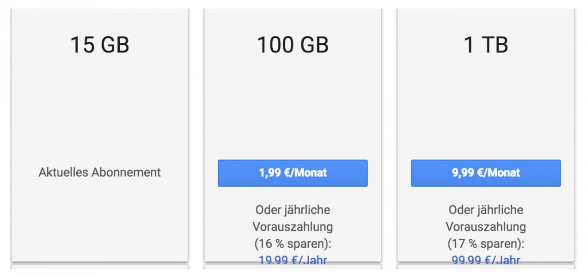Google Drive Jahresabo