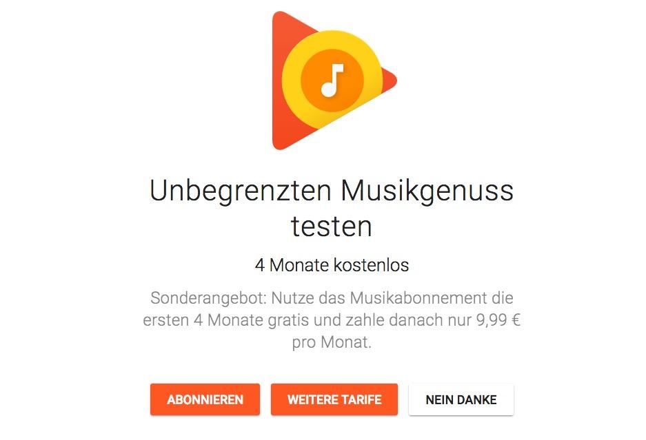 Google Play Music kostenlos