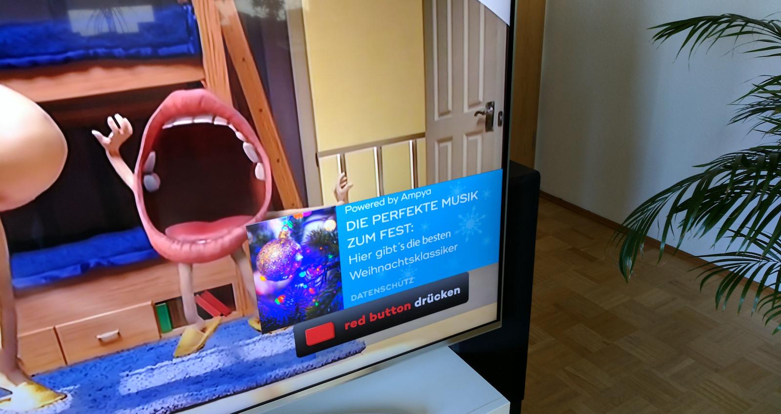 Werbung auf LG Fernseher