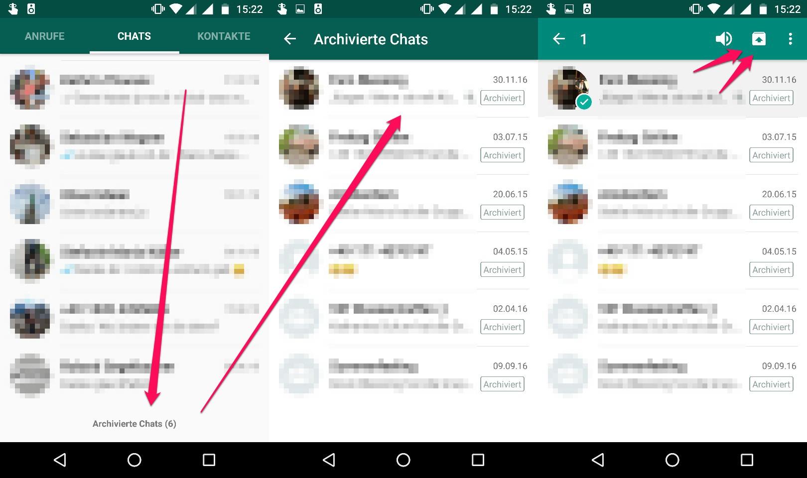 WhatsApp-Archiv unter Android wiederfinden
