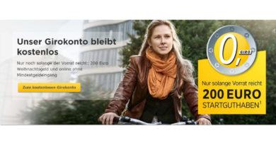 Kostenloses Girokonto bei der Commerzbank mit 200 Euro Startguthaben