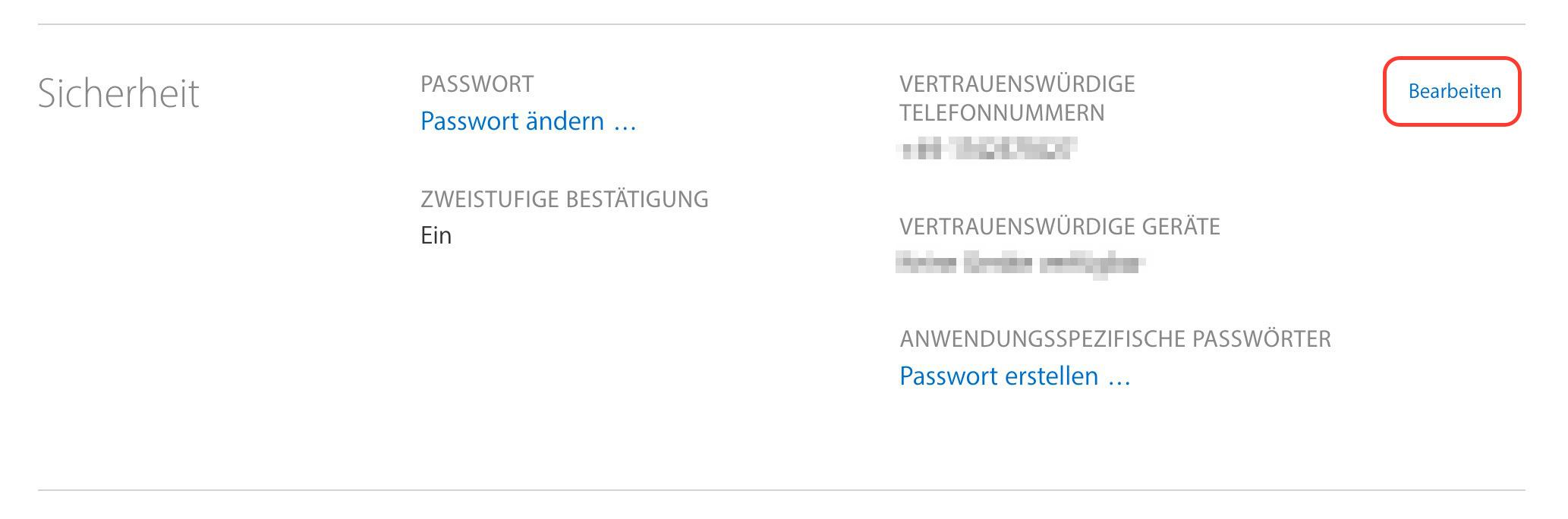 Apple-ID Zwei-Faktor Authentifizierung einschalten