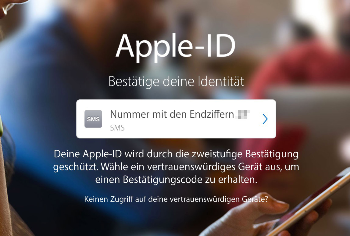 Apple-ID: Zwei-Faktor Authentifizierung