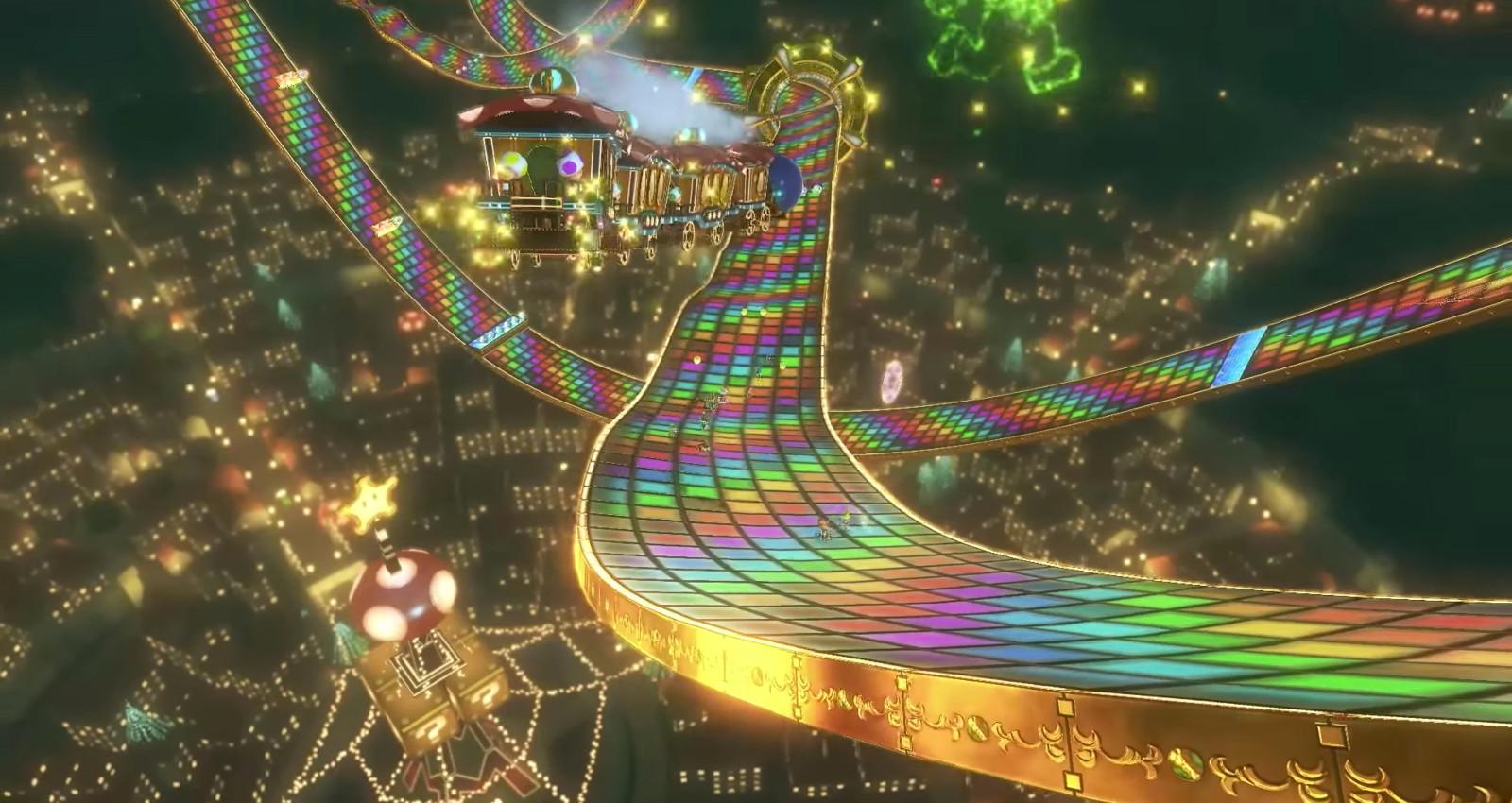 Mario Kart 8 Deluxe Regenbogen Strecke