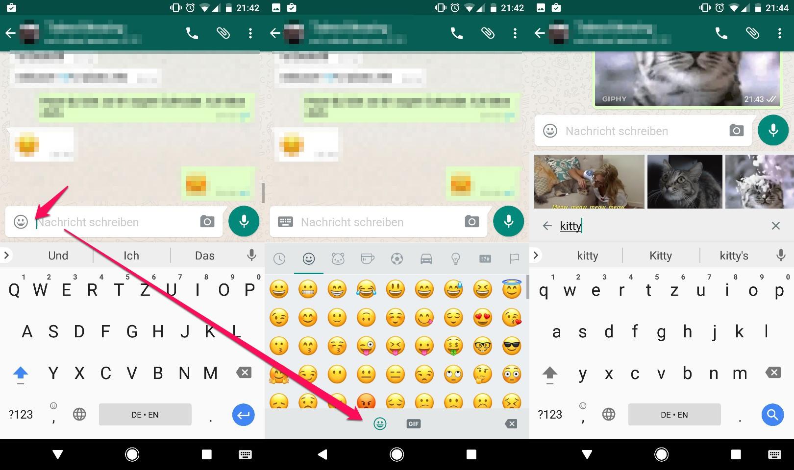 WhatsApp Beta mit GIF-Suche