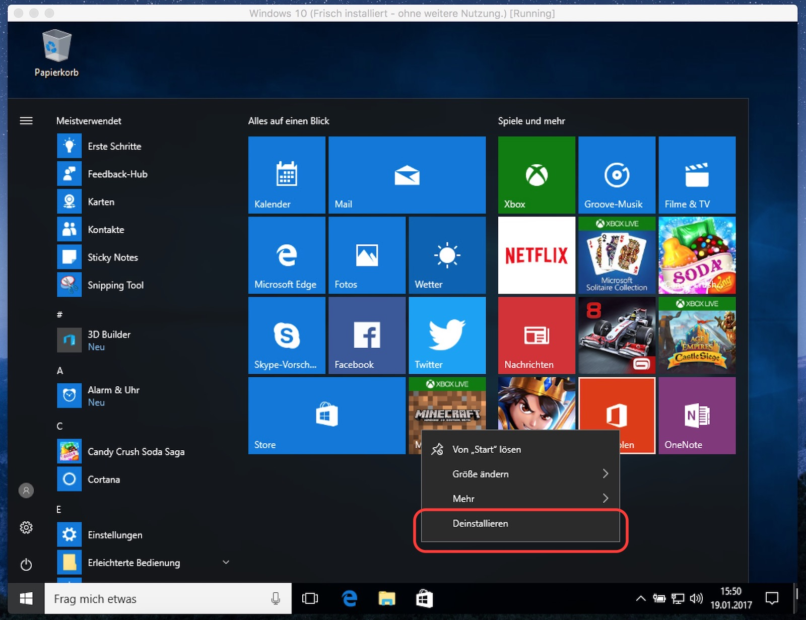 Windows 10 Office holen deinstallieren