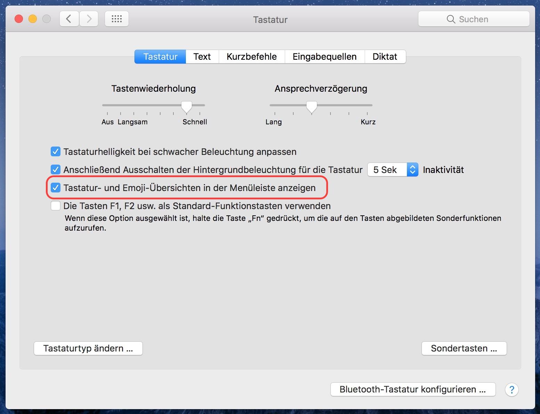 macOS Unicode-Wert eines Zeichens ermitteln