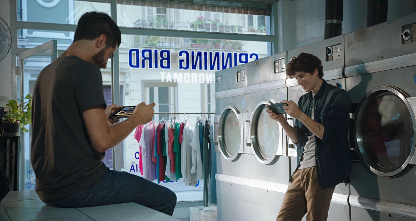 Nintendo Switch im Waschsalon