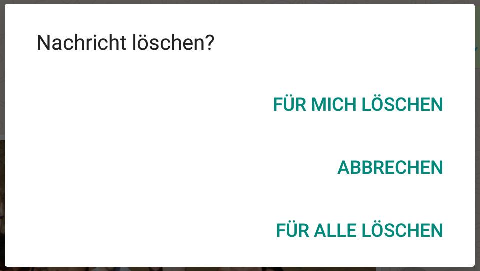 WhatsApp Nachrichten löschen