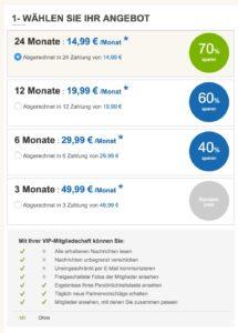 Preise und Kosten bei Partner.de