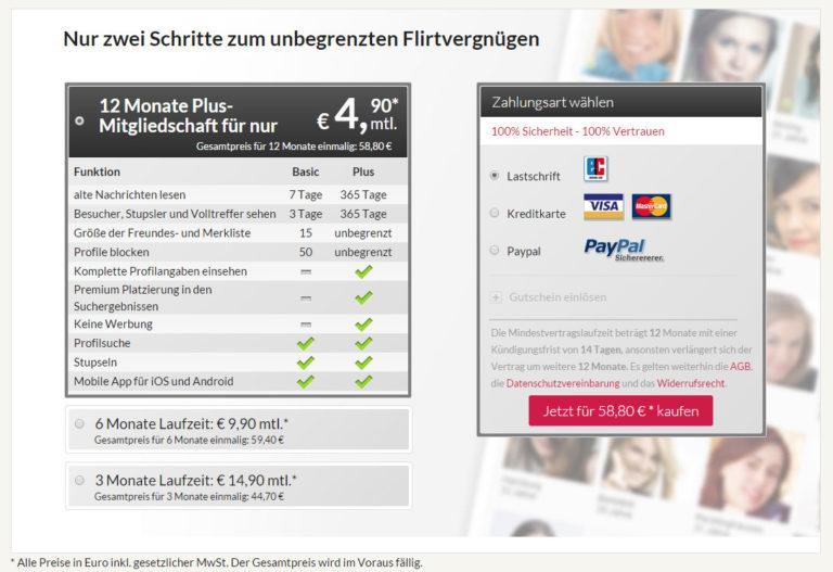 Kosten bei single.de