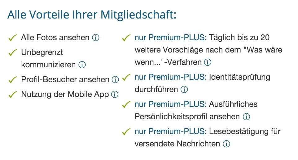 eDarling Premium-PLUS Mitgliedschaft