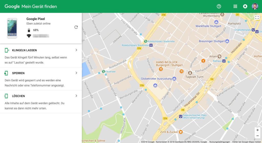 GoogleMein Gerät finden