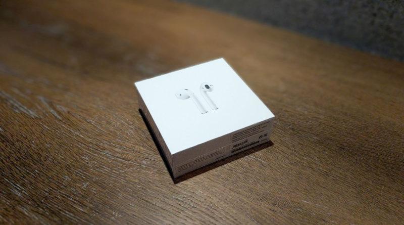 Die Verpackung der Apple AirPods