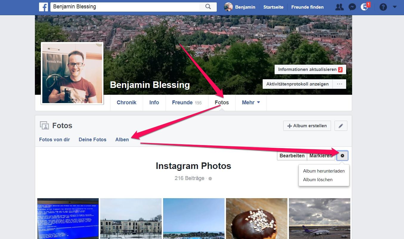 Facebook Alben herunterladen