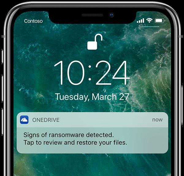 OneDrive erkennt Ransomware und schützt Dateien