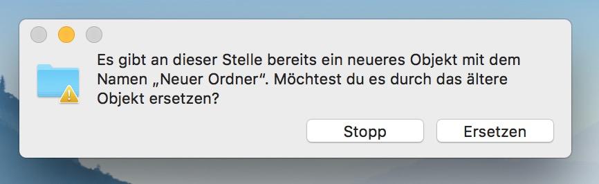 Ordner unter macOS zusammenführen