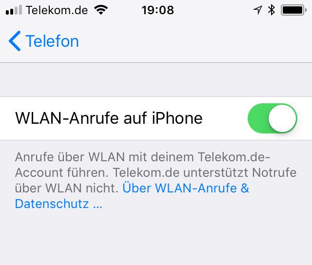 WLAN-Call auf dem iPhone