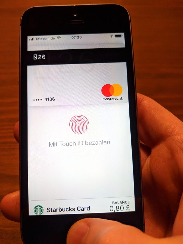 Bezahlen mit Apple Pay und N26