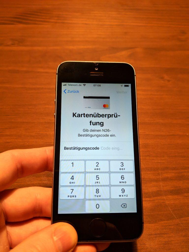 N26 Code zur Freischaltung via SMS