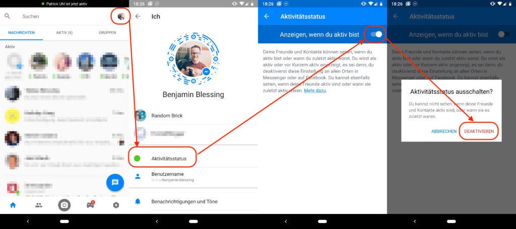 Facebook Messenger Online-Status verbergen