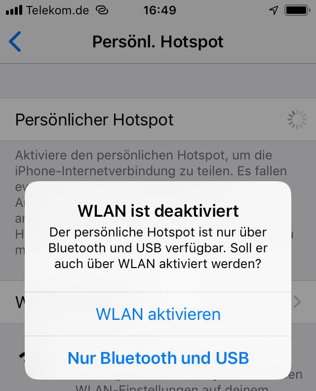 iPhone Hotspot unsichtbar machen