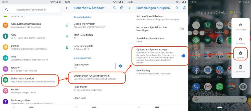 Android Fingerabdruck ausschalten